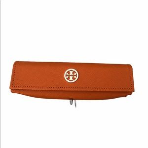Tory Burch orange glasses case